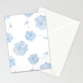Blue Lotus offset Stationery Cards