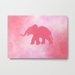 Ella the Elephant Metal Print