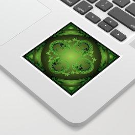 Vintage Green Gecko Sticker