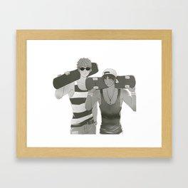 SNK: Jeaneren Skaterboarder Framed Art Print