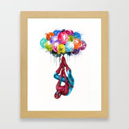 Flying Superhero Framed Art Print