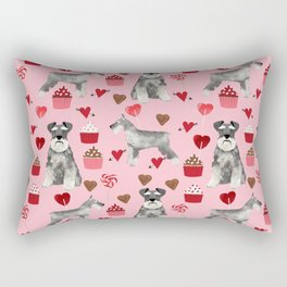 Schnauzer valentines day cupcakes love hearts schnauzers must have pure breed lovers Rectangular Pillow