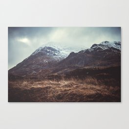 A Storm in the Highlands Canvas Print