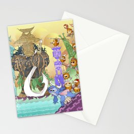 Tiki Hide & Seek Stationery Cards