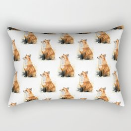 Red Fox Pattern Rectangular Pillow