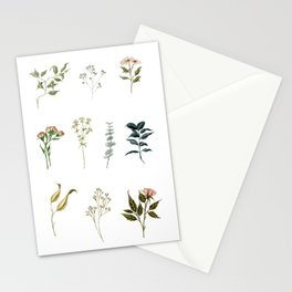 Delicate Floral Pieces Stationery Cards