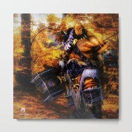 For Orcs, War Solves Everything Metal Print