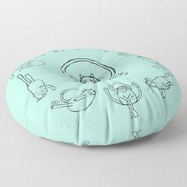 Yoga cats 2 Floor Pillow