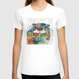 Otter Art - Ottertude - By Sharon Cummings T-shirt