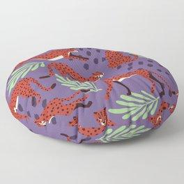 Dark cheetah pattern Floor Pillow