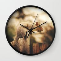magic the gathering Wall Clocks featuring Gathering by Kimberley Britt