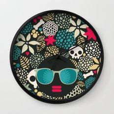 Black head. Wall Clock