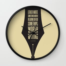 Lab No. 4 - Reading and Writing Benjamin Franklin Quotes Poster Wall Clock