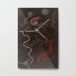 Three Billabongs - Australian Aboriginal Art Theme Metal Print