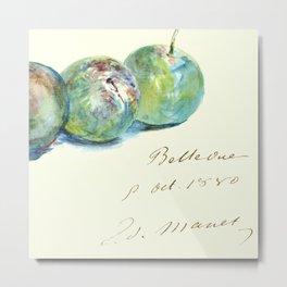"""Édouard Manet """"Letter (Lettre)"""" Metal Print"""