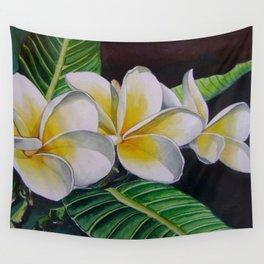 Polynesian Plumeria Wall Tapestry