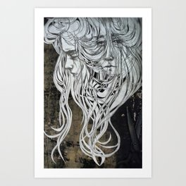 of the sea, on the past & letting go Art Print
