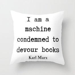 42    Karl Marx Quotes   190817 Throw Pillow