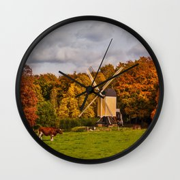 Autumn in Holland Wall Clock