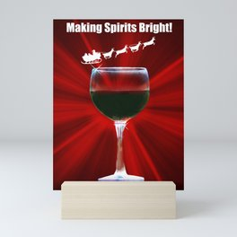 Wine Holiday Cards Wine Country Christmas Cards Mini Art Print