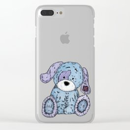 Cuddly Dog Clear iPhone Case