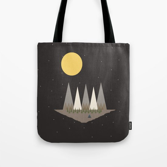 Camping on the Edge of the World Tote Bag