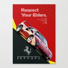 Respect Your Elders - 1 Canvas Print