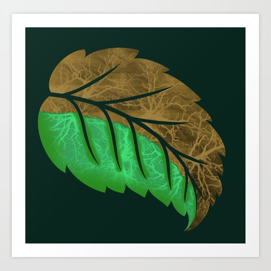 Drying Leaf Art Print