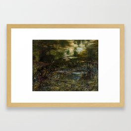 Charles James Lewis (1830-1892) River landscape Framed Art Print