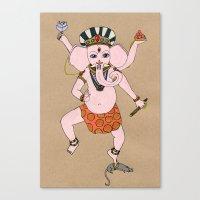 ganesha Canvas Prints featuring Ganesha by Erika Rier