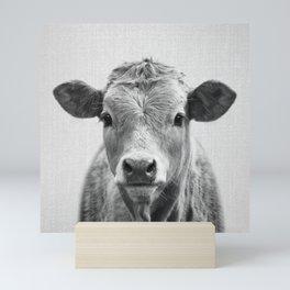 Cow 2 - Black & White Mini Art Print