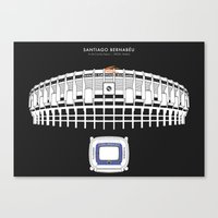 real madrid Canvas Prints featuring Santiago Bernabéu - Real Madrid Stadium  by Dick Smith Designs