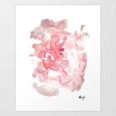 Softie rose Art Print