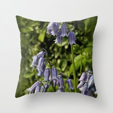 Spanish Bluebells Throw Pillow