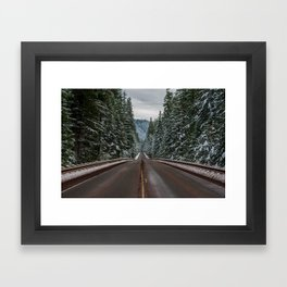 Winter Road Trip - Pacific Northwest Nature Photography Framed Art Print
