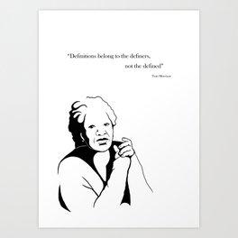 Toni Morrison Art Print