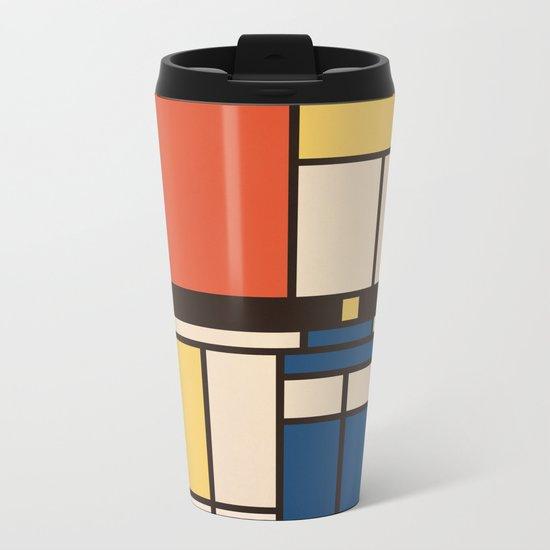 Mondrian Who Metal Travel Mug
