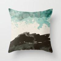 storm Throw Pillows featuring storm by Golden Boy