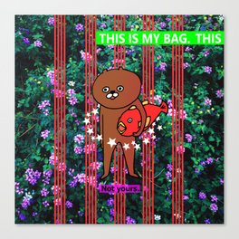 this is my bag Canvas Print