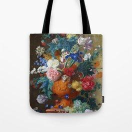 """Jan van Huysum """"Flowers in a Terracotta Vase"""" Tote Bag"""
