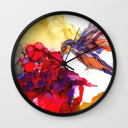 Litte Yummy Hummingbird Wall Clock