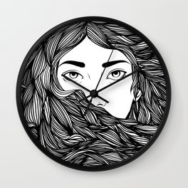 Flowing hair Wall Clock