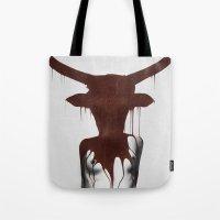 taurus Tote Bags featuring Taurus by Ruben Ireland
