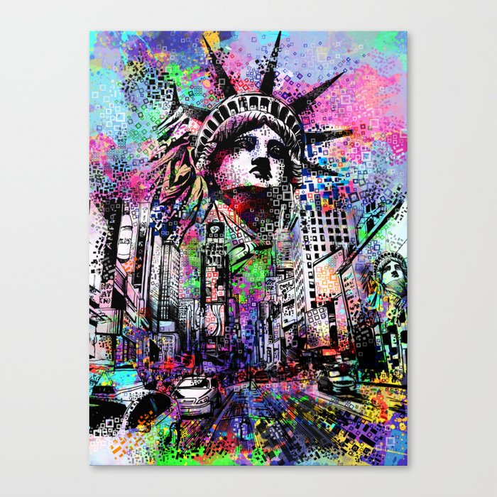 new york city urban collage Canvas Print