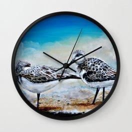 Rest at Shore Wall Clock