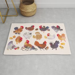 Chicken and Chick Rug
