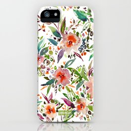 INCOGNITO INTROVERT Tropical Colorful Floral iPhone Case