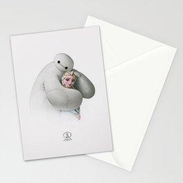 Sweet Hug - Baymax and Elsa Stationery Cards