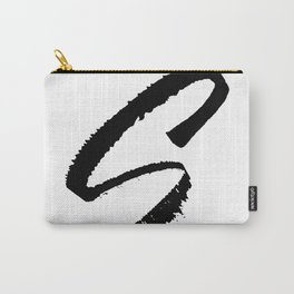 Letter S Ink Monogram Carry-All Pouch