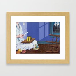 domestic scene Framed Art Print